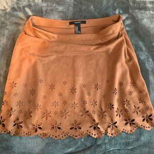 Forever 21 Brown Mini Skirt with Design